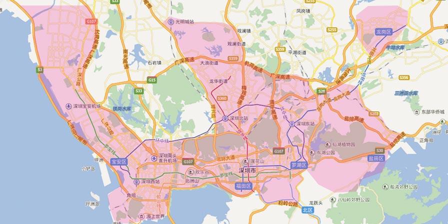 深圳龙岗布吉镇地图
